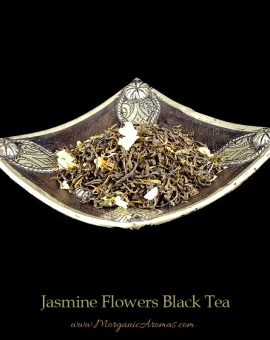 jasmine flowers black tea loose leaf