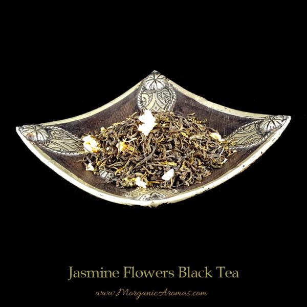 jasmine flowers black tea loose leaf