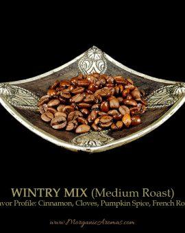 Wintry Mix Blend, Medium Roast, Cinnamon, Cloves, Pumpkin Spice, Flavored Coffee